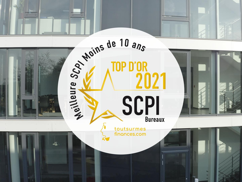 LA SCPI EUROVALYS REÇOIT LE TOP D'OR 2021