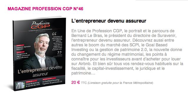 L'entrepreneur devenu assureur - MAGAZINE PROFESSION CGP N°46