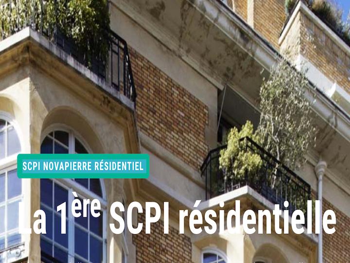 Pierre 48 devient Novapierre Résidentiel, la 1ère SCPI 100 % résidentielle du marché