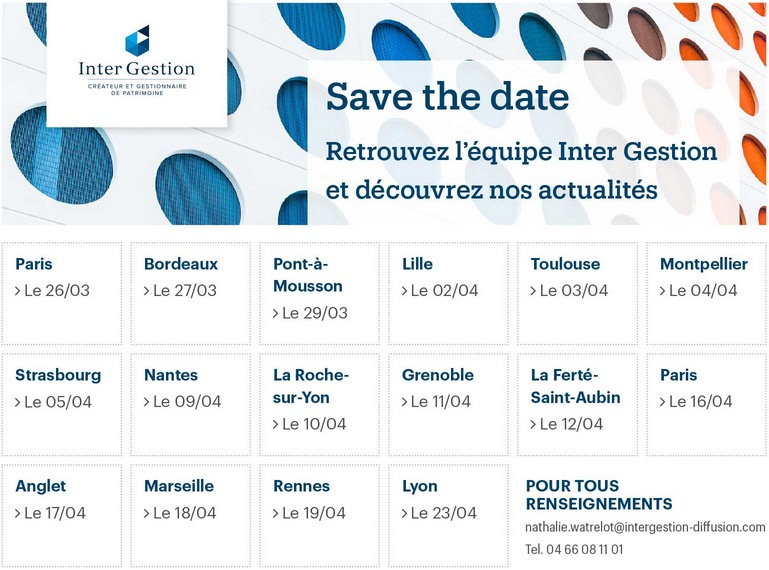 Les roadshows du printemps d'INTER GESTION
