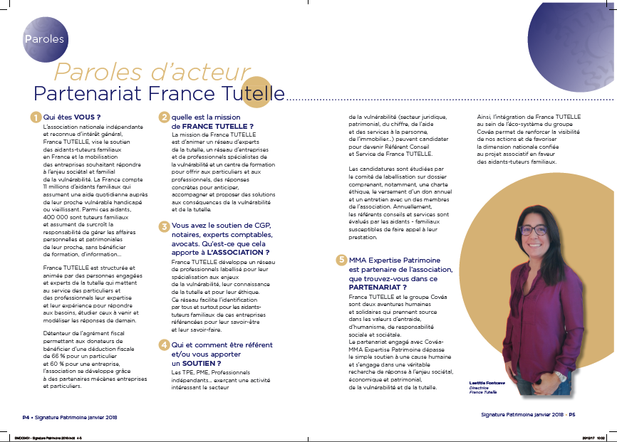 Interview de Laetitia Fontcave, Directrice de France Tutelle